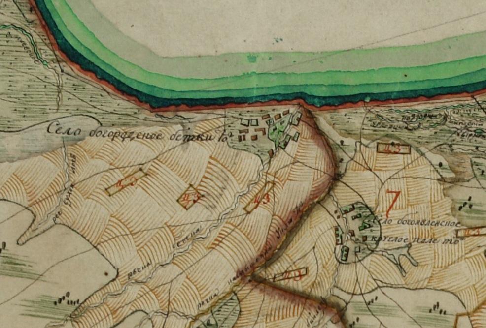 Бетьки на Плане Генерального Межевания, 1790-1805 года.