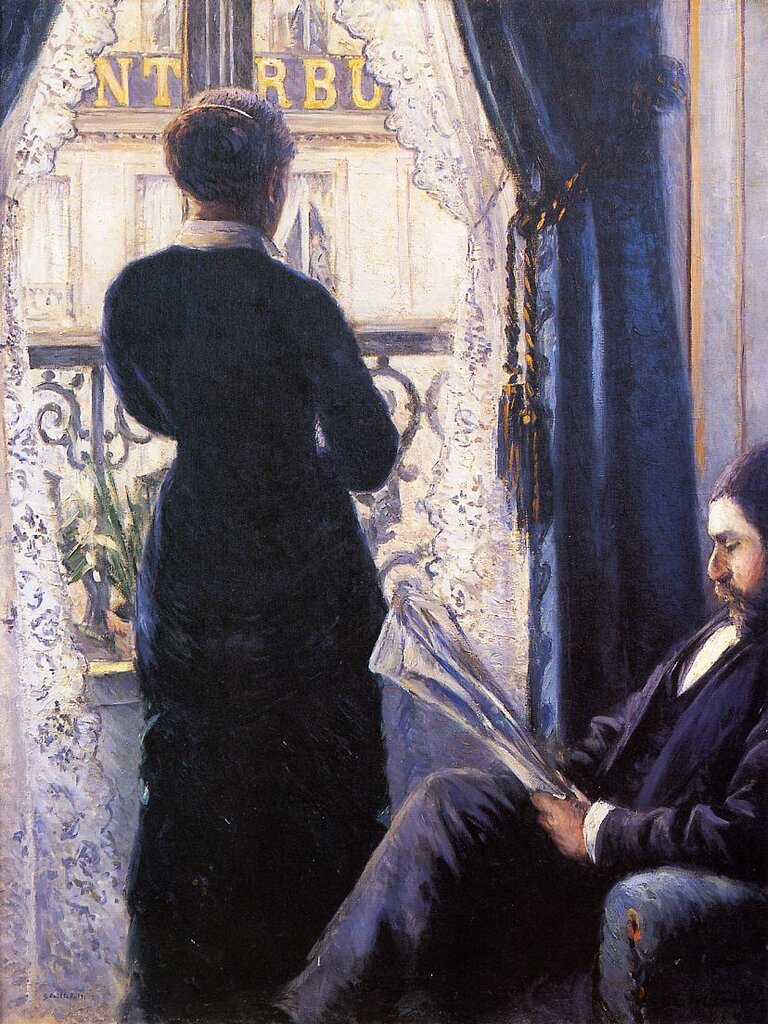 Interior (also known as View across the Balcony)  -  1880 - Musee d'Orsay - Painting - oil on canvas.jpg