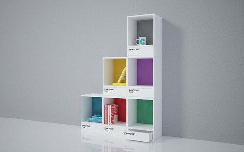 Модульные шкафы из разноцветных блоков