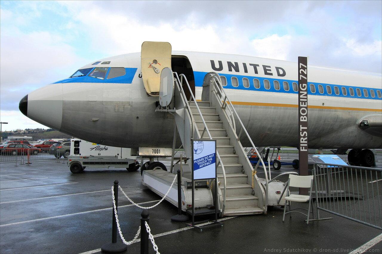 А было время: обзор первого Boeing 727 в музее авиации Сиэтла. Фото: dron-sd.livejournal.com