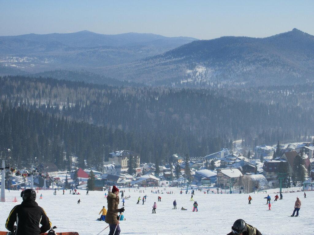 Мой первый спуск - Спорт, Зима, Горы, Горнолыжные комплексы, Горная Шория - sheregesh, chronical, siberia, russia, kuzbass