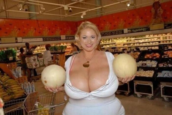 Радикально большой размер груди (40 фото)