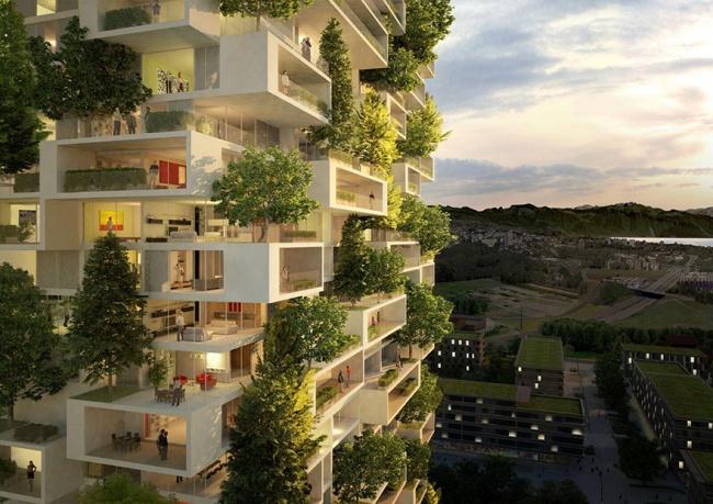 Вот так будет выглядеть первый вмире вечнозеленый небоскреб