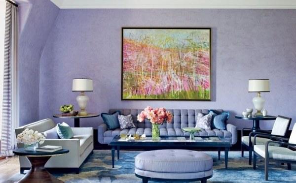 Нежный лавандовый цвет в вашем интерьере
