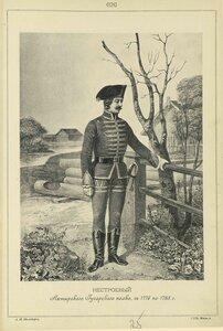626. НЕСТРОЕВОЙ Ахтырского Гусарского полка, с 1776 по 1783 год.