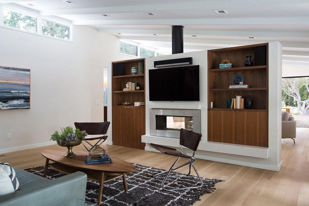 Klopf Architecture, Lafayette MCM Remodel, картины в интерьере фото, дизайн домов калифорния, особняк в калифорнии фото, патио в частном доме фото