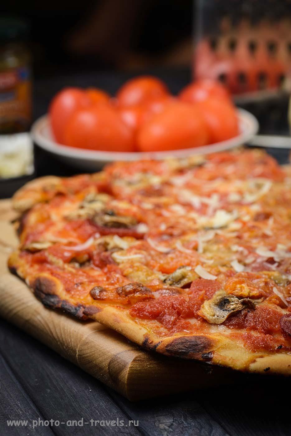 15. Итальянская пицца «Pizza Regina». Примеры использования с Тамрон 90/2,8 в фуд-фотографии (М, 90мм, f11, 1/3сек, ISO 100, вспышка).
