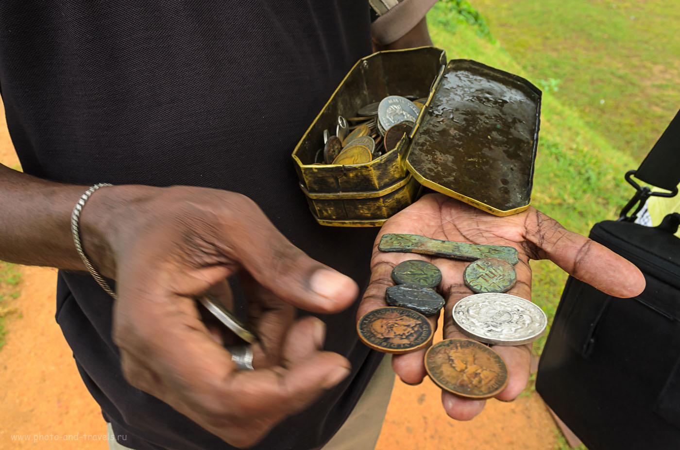 Фото 7. Древние монеты на Шри-Ланке. Отзыв о поездке на экскурсию в форт Галле дикарями в мае.