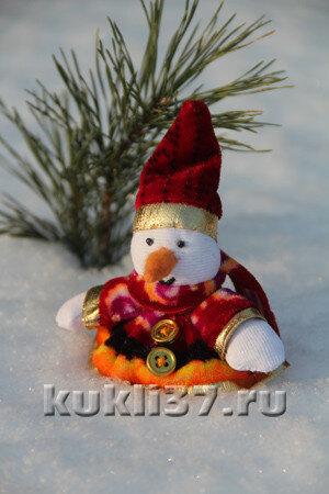 снеговик в шубке