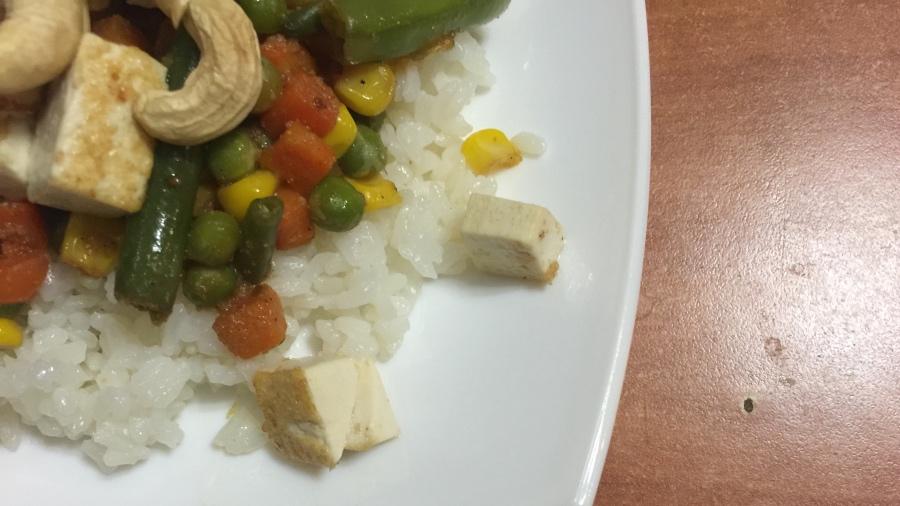 Рис с тофу и кешью
