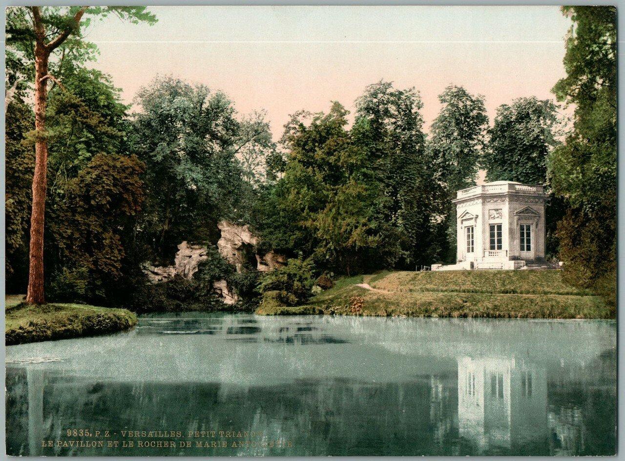 Парк Малого Трианона. Деревушка Марии-Антуанетты — Амо де ля Рен. Павильон и скала