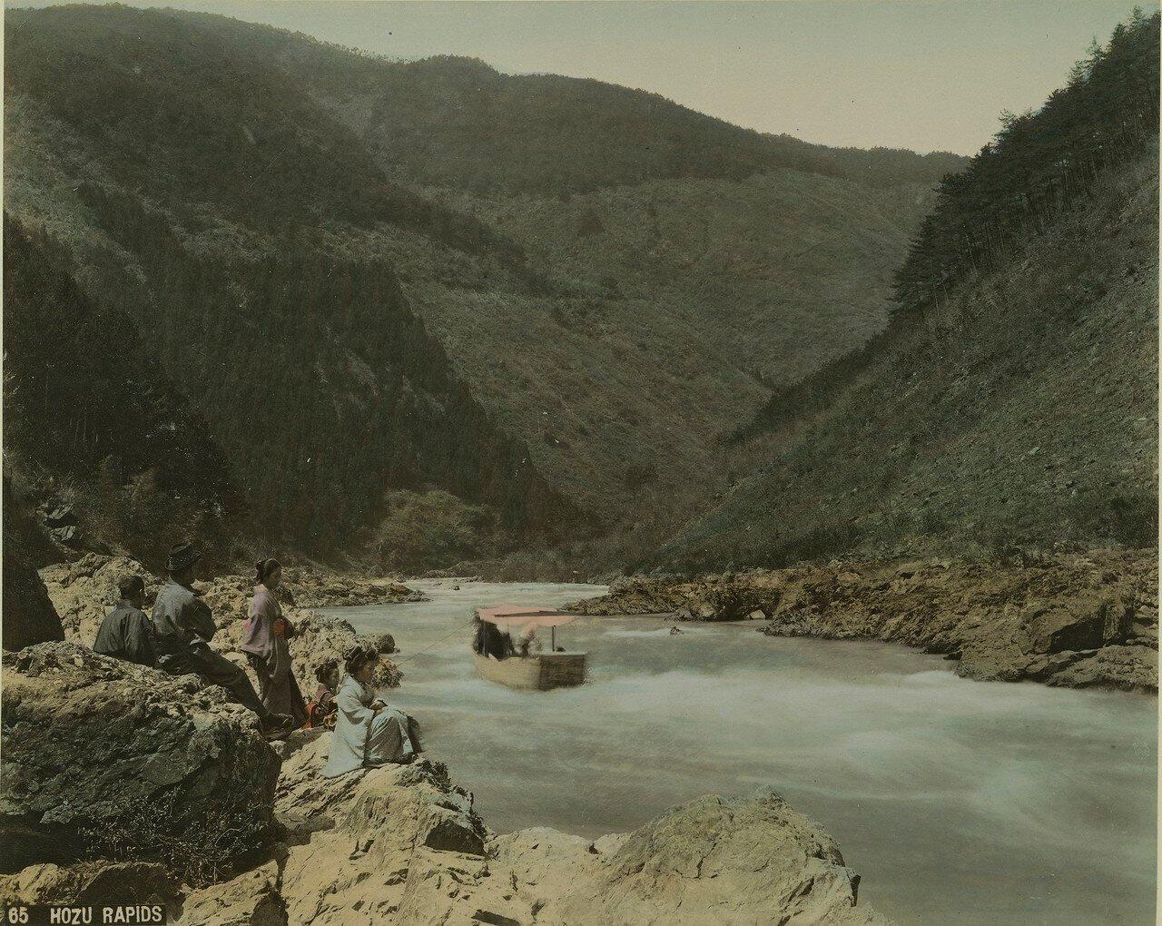 Река Хозу. Стремнина