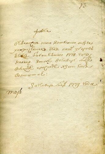 ГАКО, ф. 1243, оп. 2, д. 1, л. 13.