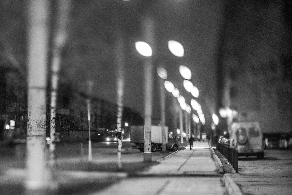 Нижневартовск, ночью с ручным тилтшифтом