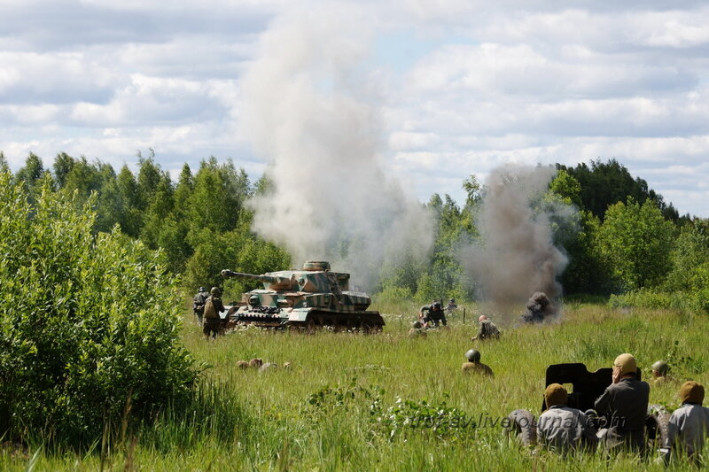 Бой. 22 июня, реконструкция начала ВОВ в Кубинке (2 часть)