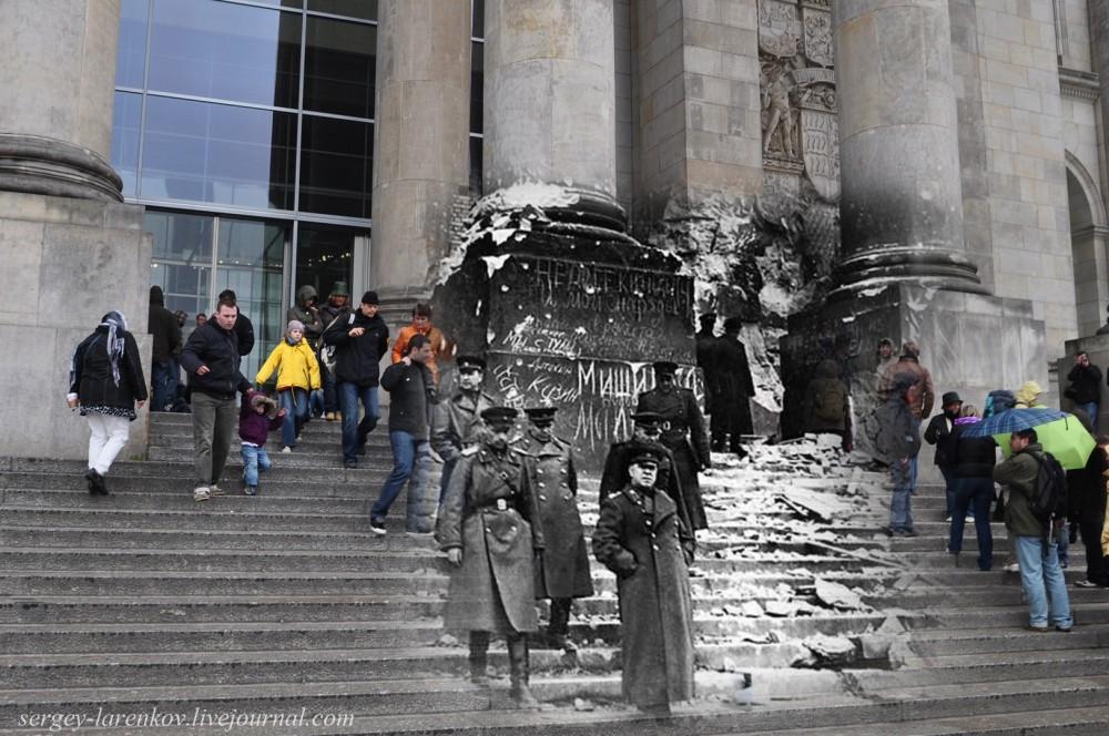 28 Берлин 1945-2010. Жуков на ступенях поверженного Рейхстага..jpg