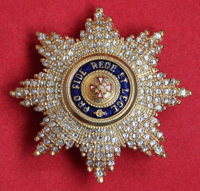 Звезда орден Белого орла (с хрусталем swarovski)