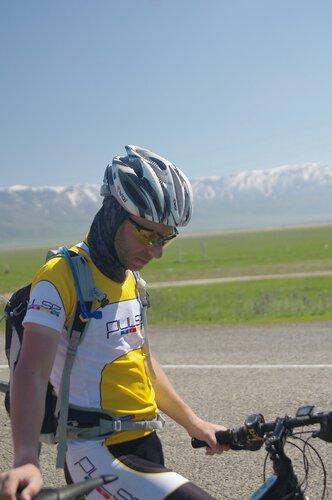 Велосепедист в Казахстане