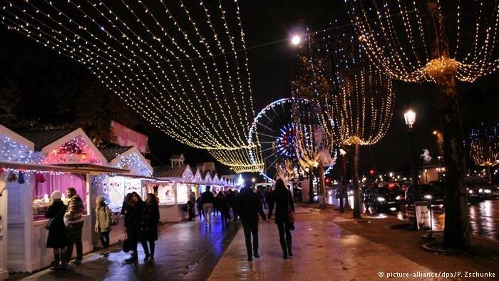 Рождественские огни европейских бульваров