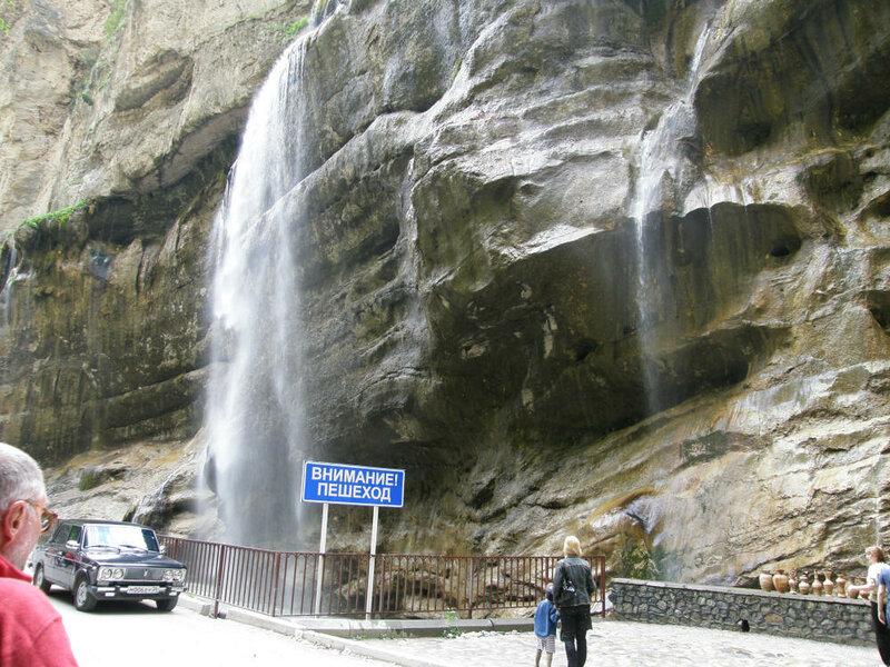 Тут же и Чегемские водопады