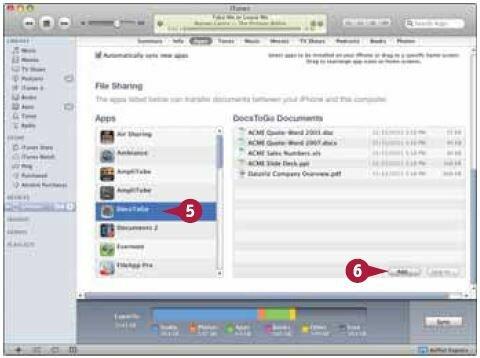 Выберите приложение, к которому хотите добавить файл