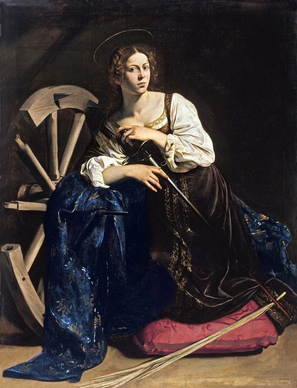 Картины старых мастеров, Караваджо, Св.Екатерина Александрийская.jpg
