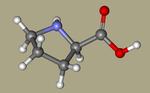 Proline - D-proline, 344-25-2, (R)-pyrrolidine-2-carboxylic acid, (2R)-pyrrolidine-2-carboxylic acid, D-(+)-Proline, D-Prolin-CID_8988.png