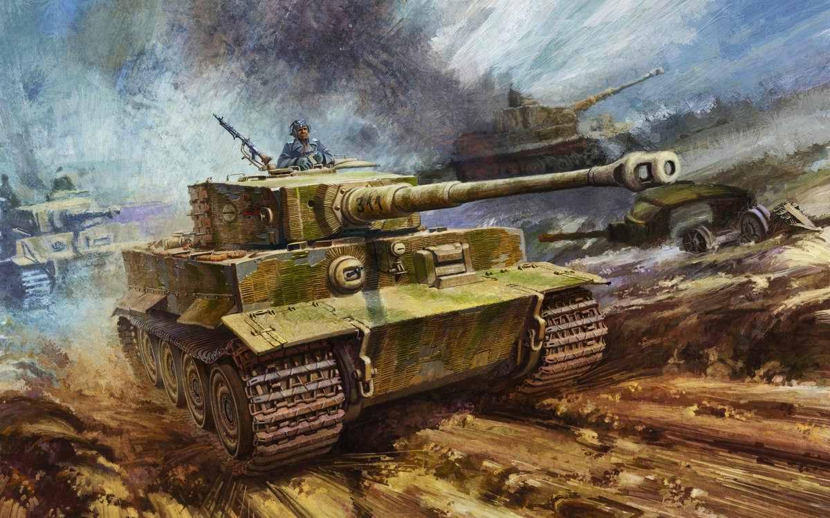 Немецкий тяжелый танк PzKpfw VI Тигр