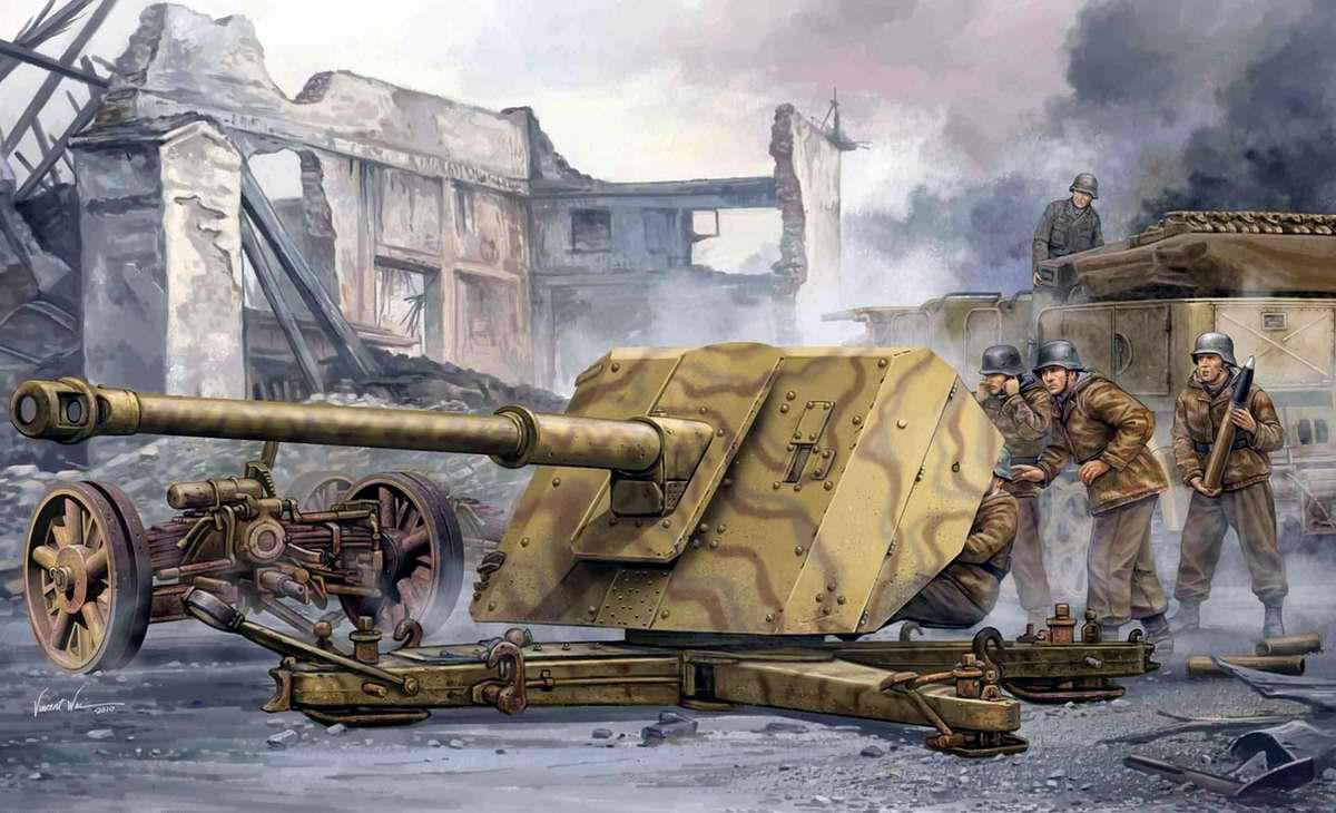 Немецкая противотанковая пушка Pak 43 (Vincent Wai)