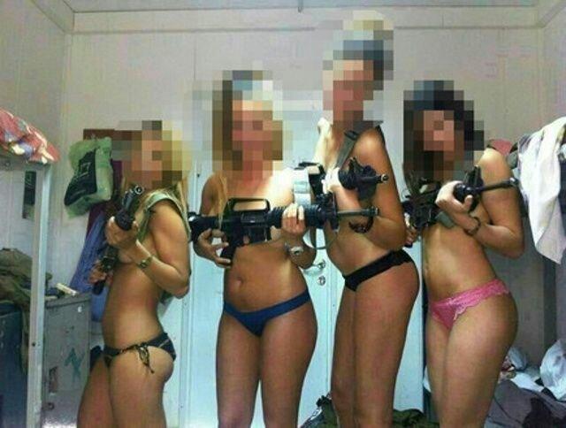 Эротическая фотосессия девушек вооруженных сил Израиля