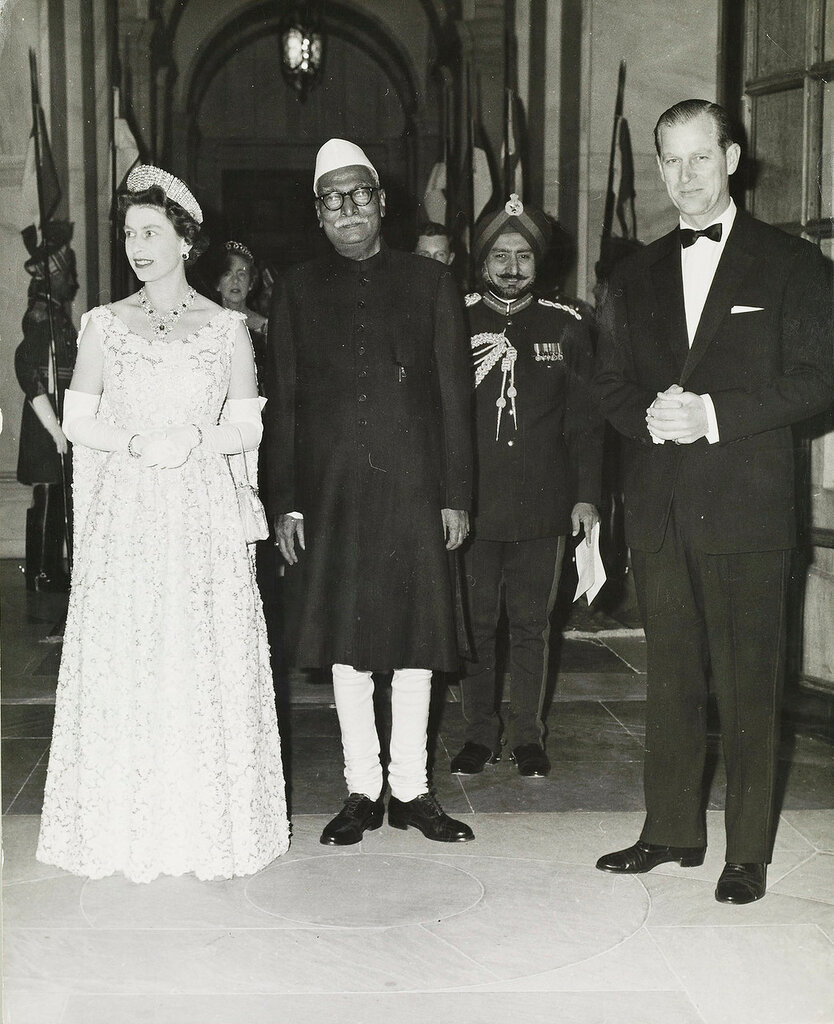 HM Queen Elizabeth II attends banquet at Presidential Palace, New Delhi