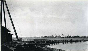 Панорама города с правого берега реки Онеги