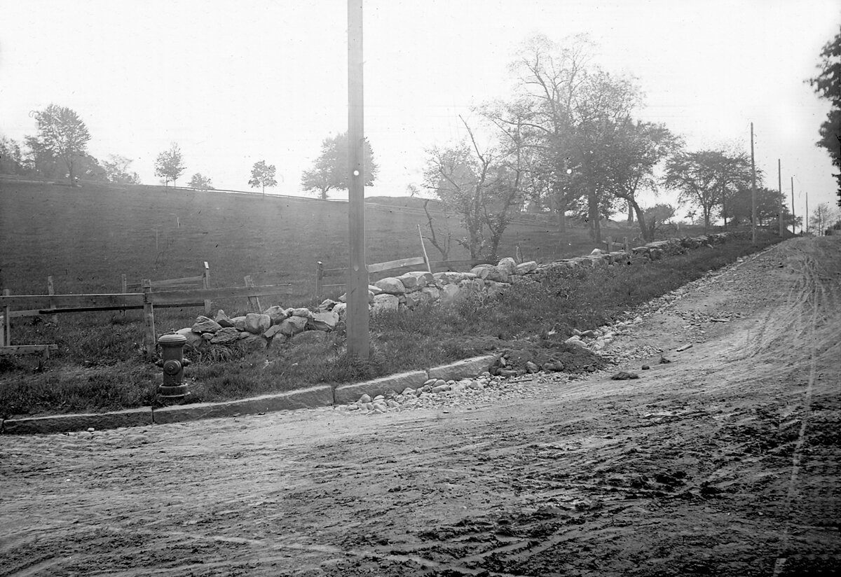 1887. Площадь Вашингтона. Вид на западную часть Бейкон-стрит