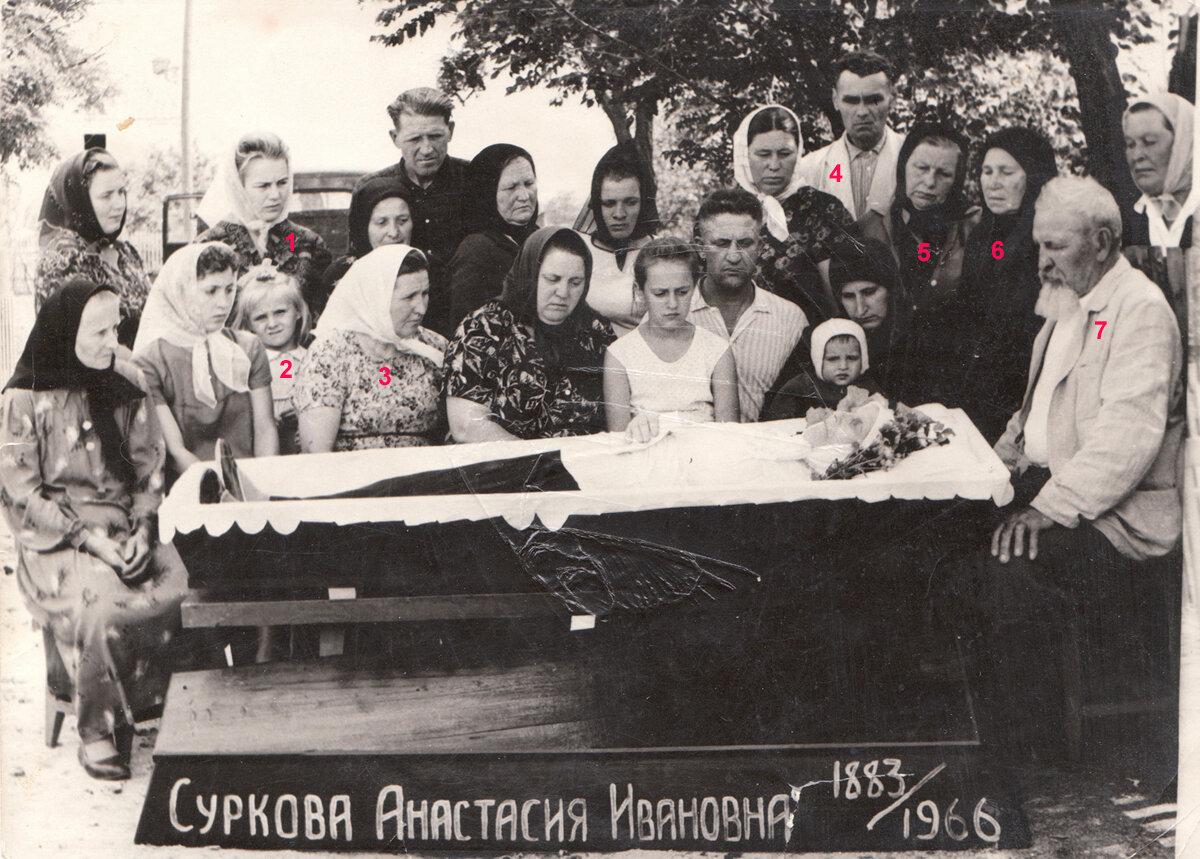 Похороны Анастасии Сурковой. 1966.