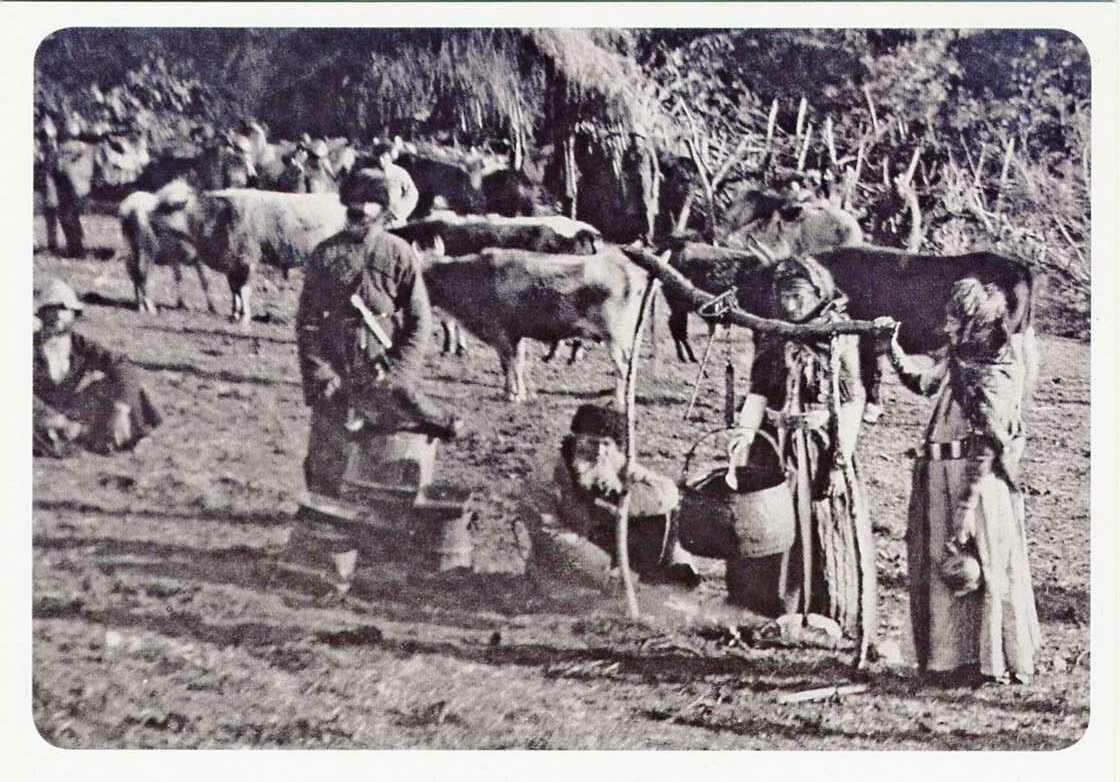 Карачаевцы. Кош на реке Кичкане-кала. ХIХ век.