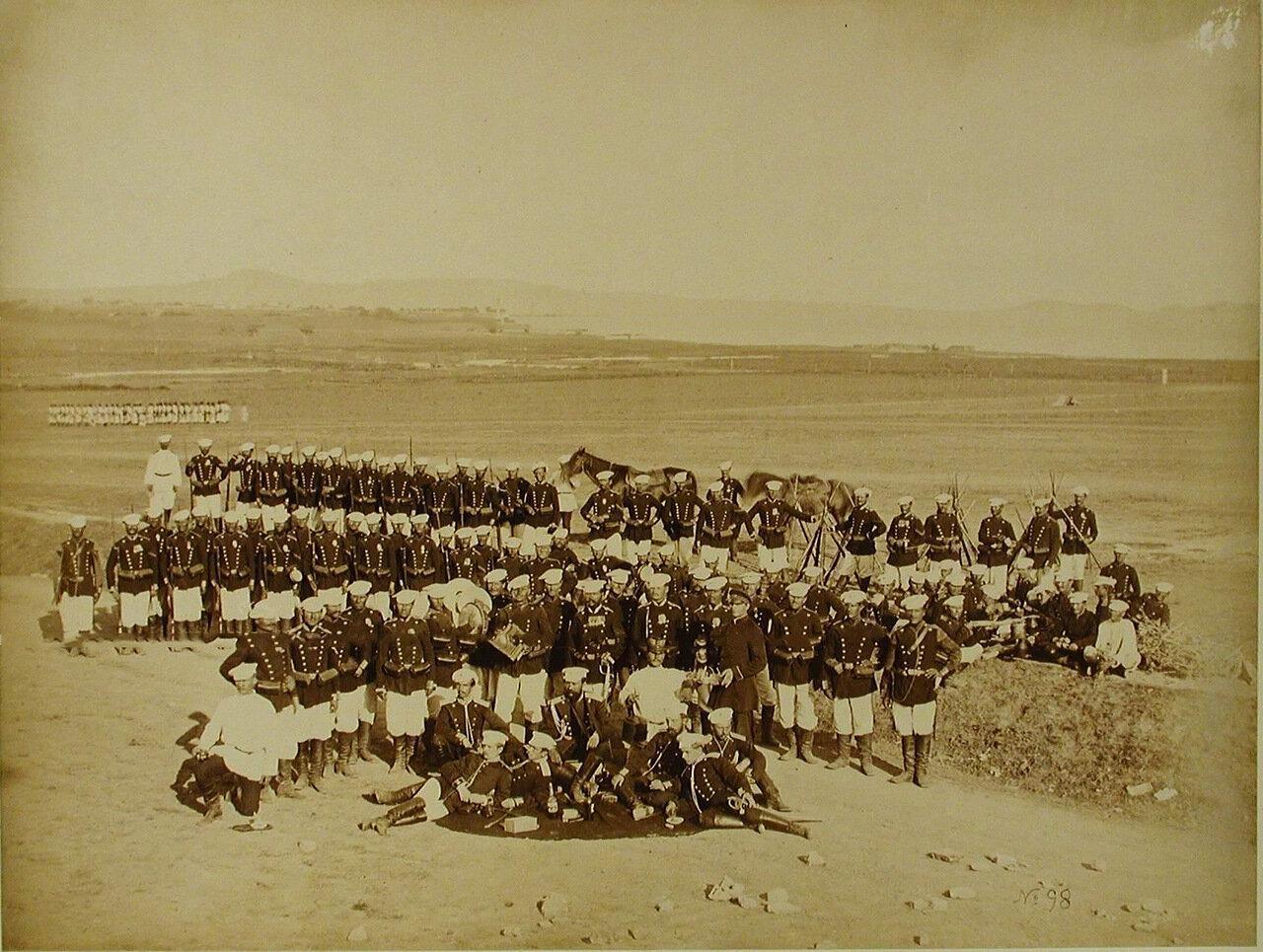 23. Солдаты и офицеры Лейб-гвардии 2-го Стрелкового батальона. Турция. Константинополь