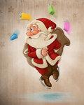 Santa Claus on ice