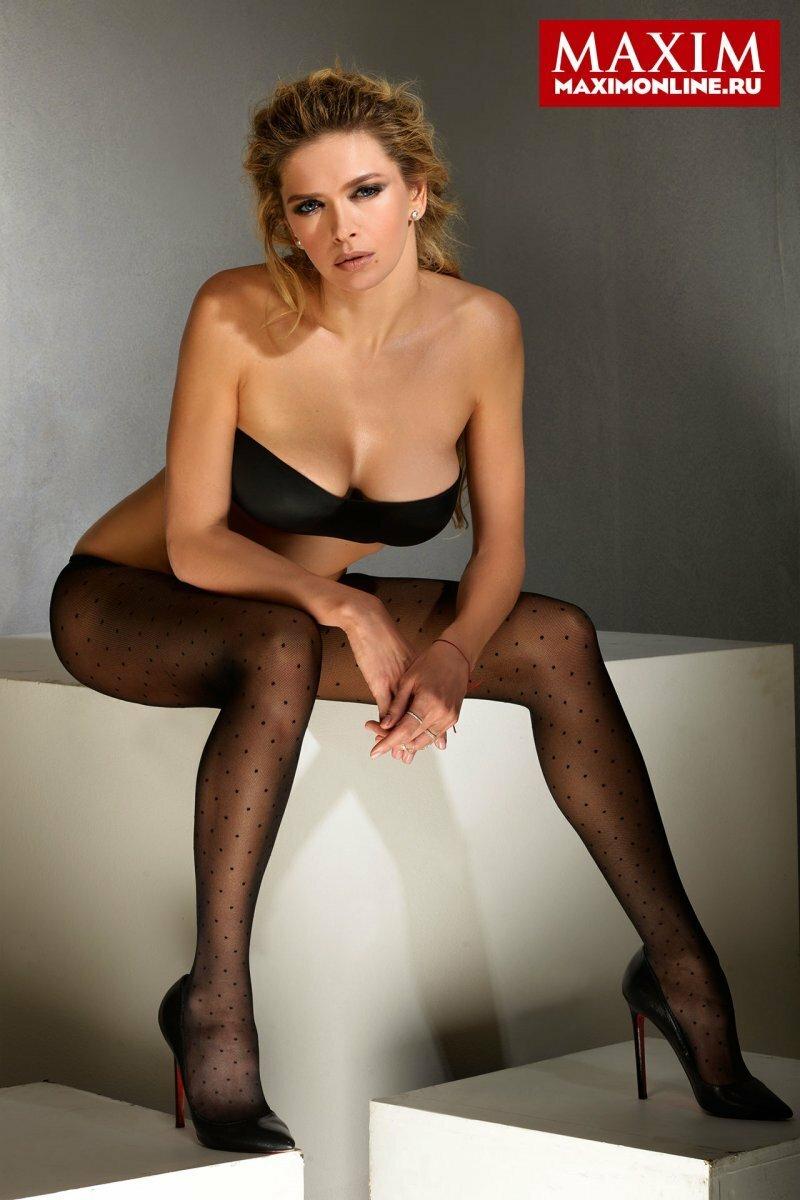 Вера Брежнева для журнала MAXIM (6 фото + видео)