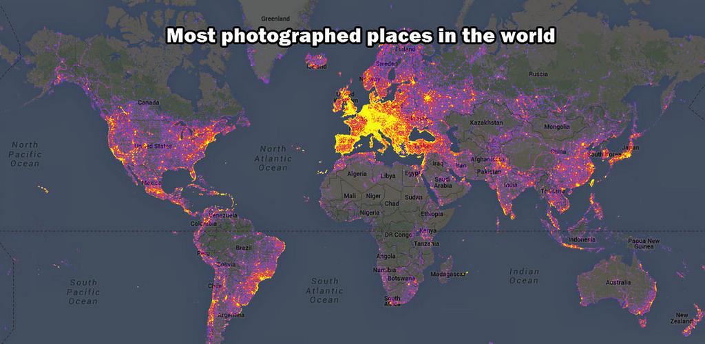Какие объекты в мире фотографируют чаще всего