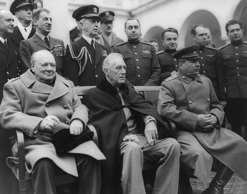 сталин черчилль рузвельт ялта