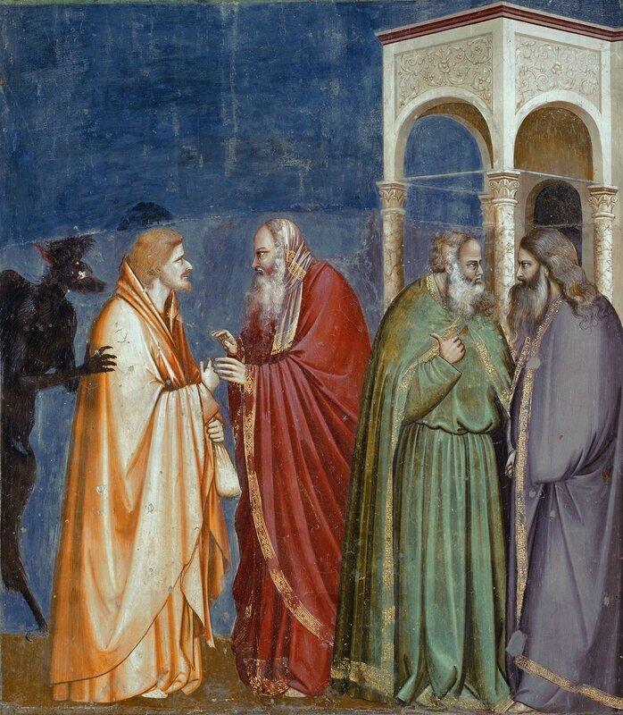 28.Жизнь Христа. Иуда получает 30 серебрянников от фарисеев.jpg