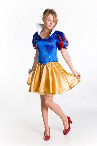 Женский карнавальный костюм Белоснежка