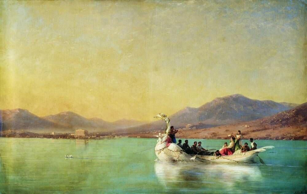 Венчание поэта в Древней Греции, 1886 год