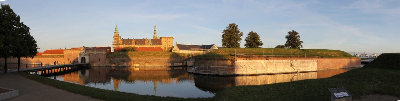 the Castle of Kronborg. Elsinore, Hamlet. Kronborg Slot. Kronborg castle. panorama