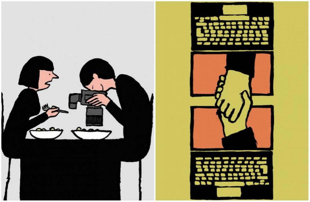 Жан Жюльен ( Jean Jullien )— известный французский иллюстратор. Его любимая тема— это ирония над з