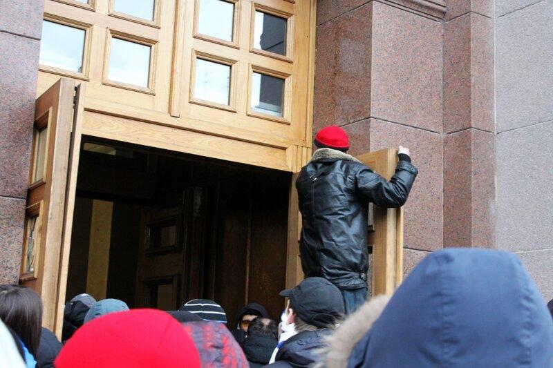 Штурм киевской мэрии 1 декабря
