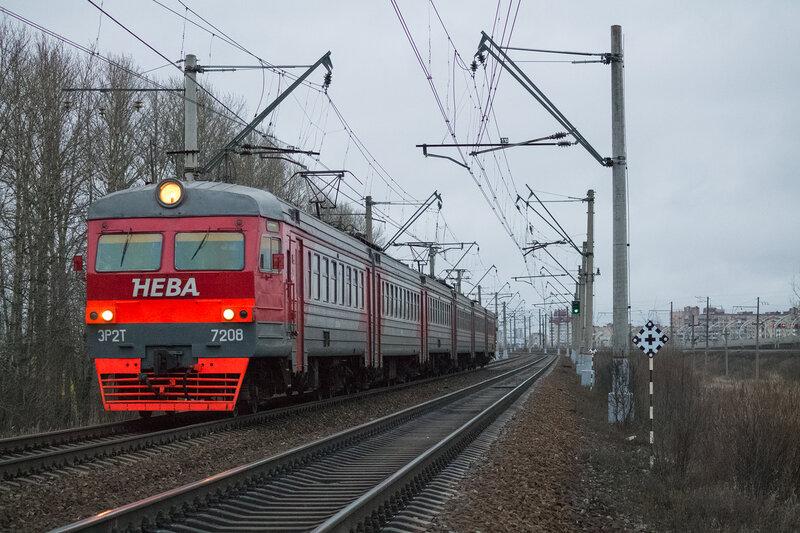 ЭР2Т-7208, Ленинский Проспект - Дачное.