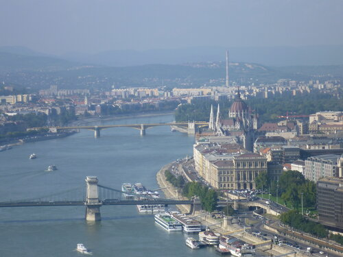 Будапешт, вид с холма Геллерт (Будапешт, вид с горы Геллерт)