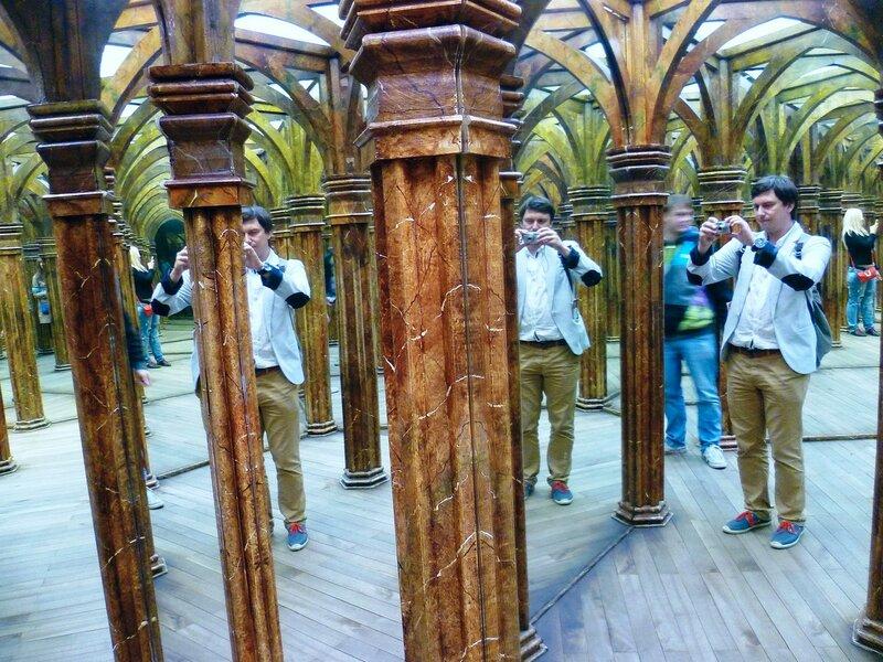 Зеркальный лабиринт в Праге, Чехия (Mirror Maze in Prague, Czech Republic)