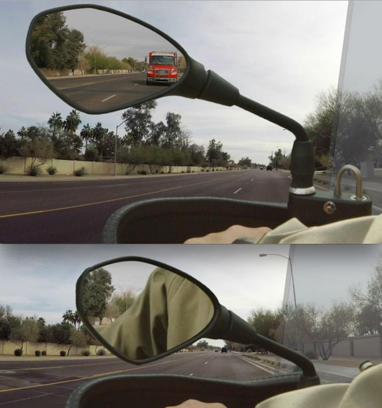 MirrorLok - крепление для зеркала и шлема